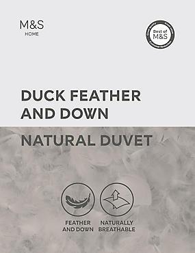 Duck Feather & Down 10.5 Tog Duvet, WHITE, catlanding