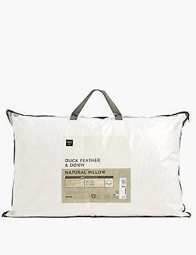 Duck Feather & Down Firm Pillow, , catlanding