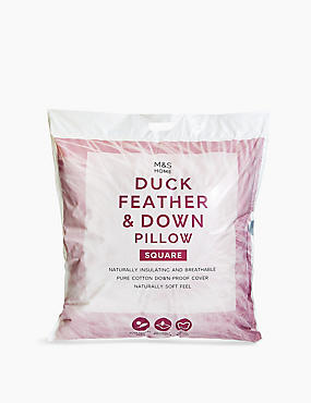 Duck Feather & Down Square Pillow