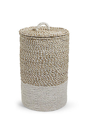 Raffia & Seagrass Laundry Basket