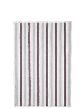 Lightweight Striped Bath Mat, GREY MIX, catlanding