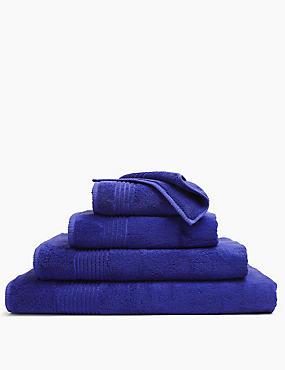 Luxury Egyptian Cotton Towel, COBALT, catlanding