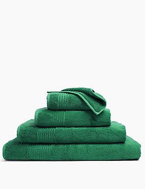 Luxury Egyptian Cotton Towel, BOTTLE GREEN, catlanding