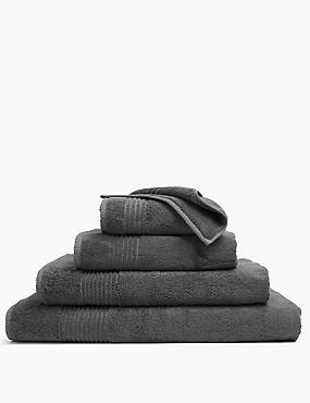 Luxury Egyptian Cotton Towel, CHARCOAL, catlanding