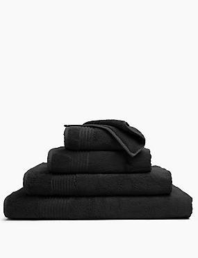 Luxury Egyptian Cotton Towel, BLACK, catlanding