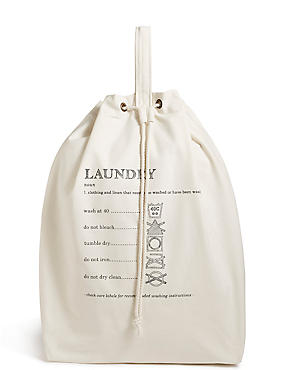 Casual Canvas Laundry Bag