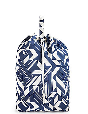Geometric Print Laundry Bag