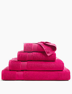 Supersoft Pure Cotton Towel, RASPBERRY, catlanding