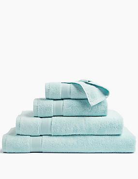 Super Soft Pure Cotton Towel, DUCK EGG, catlanding
