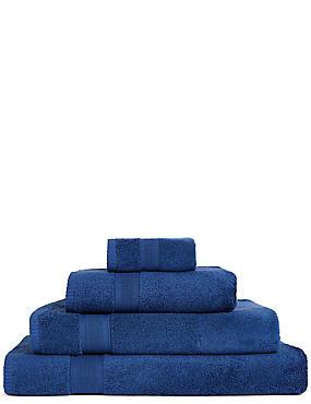 Super Soft Pure Cotton Towel, MIDNIGHT, catlanding