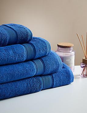 Super Soft Pure Cotton Towel, MID BLUE, catlanding