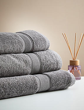 Supersoft Pure Cotton Towel, CHARCOAL, catlanding