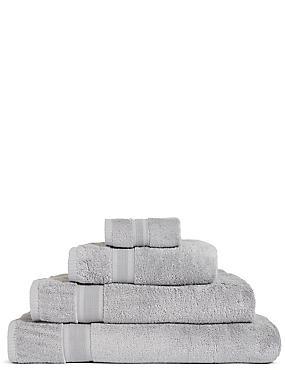 Super Soft Pure Cotton Towel, SILVER, catlanding