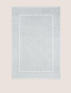 Lightweight Cotton Bath Mat, GREY, catlanding