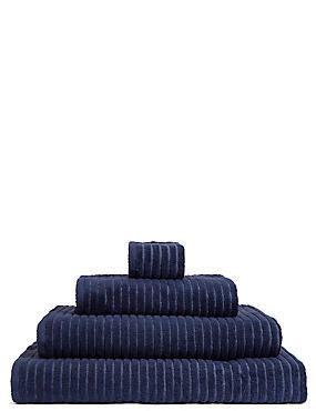 Quick Dry Ribbed Towel, DARK MIDNIGHT, catlanding