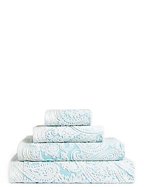 Paisley Embossed Cotton Towel