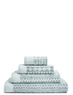 Pure Cotton Geometric Towel