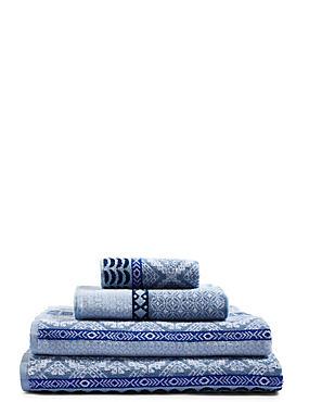 Multi Tile Towel, BLUE MIX, catlanding
