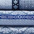 Multi Tile Towel, BLUE MIX, swatch