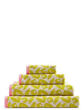 Geometric Petal Towel