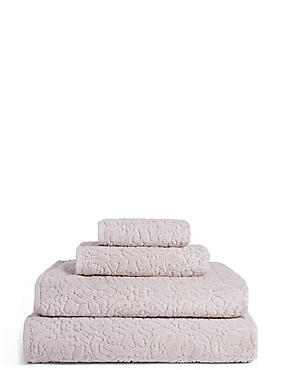 Plush Floral Towel