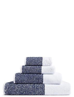 Wide Striped Towel, NAVY MIX, catlanding
