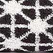 Geometric Print Star Towel, BLACK, swatch