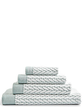 Contemporary Geometric Print Towel