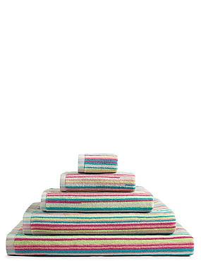 Skinny Stripe Towel, PINK MIX, catlanding