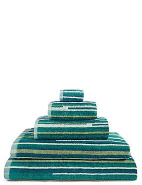 Skinny Stripe Towel, JADE MIX, catlanding
