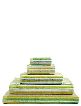 Skinny Stripe Towel, GREEN MIX, catlanding