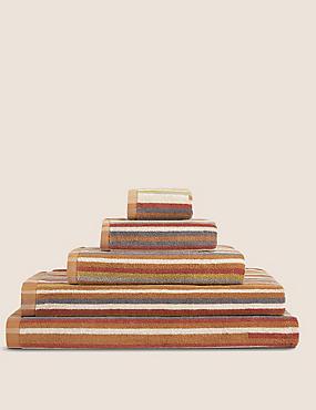 Skinny Stripe Towel, TERRACOTTA MIX, catlanding
