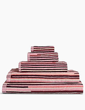 Skinny Stripe Towel, ROSE MIX, catlanding