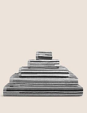 Skinny Stripe Towel, BLACK MIX, catlanding