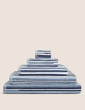 Skinny Stripe Towel, CHAMBRAY MIX, catlanding
