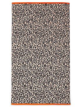 Leopard Print Beach Towel, , catlanding