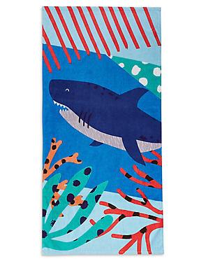 Shark Kids Beach Towel, , catlanding