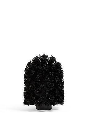 Replacement Toilet Brush Head, BLACK, catlanding
