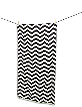 Chevron Print Beach Towel