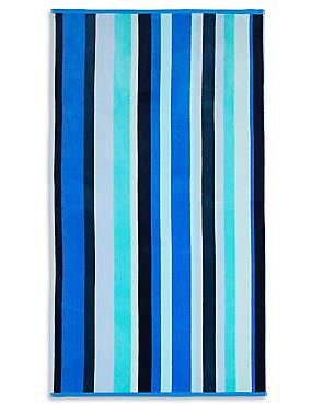 Multi Stripe Sand Resist Beach Towel, , catlanding
