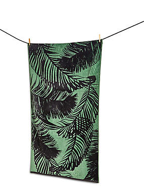 Palm Jacquard Beach Towel