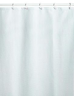 Pinstripe Seersucker Shower Curtains DUCK EGG Catlanding