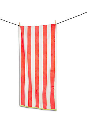 New Velour Wide Striped Beach Towel