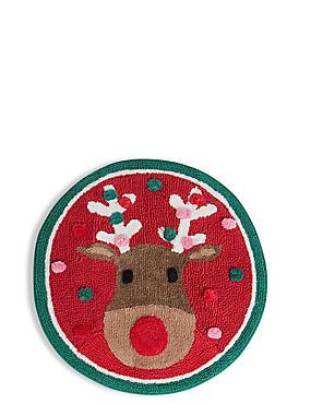 Christmas Reindeer Bath Mat, , catlanding