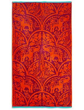 Elephant Print Beach Towel, , catlanding