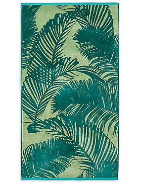 Palm Leaf Beach Towel, , catlanding