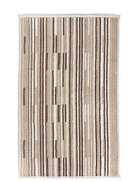 Skinny Stripe Bath & Pedestal Mats, NATURAL MIX, catlanding