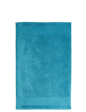 Luxury Egyptian Cotton Bath Mat, TEAL, catlanding