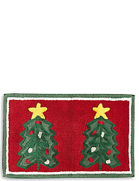 Christmas Tree Bath Mat