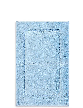 Quick Dry Bath & Pedestal Mats, CHAMBRAY, catlanding